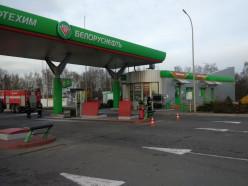 Воспламенение на заправке в Солигорске - обошлось почти без последствий