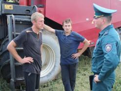 Слуцкий РОЧС проводит рейды по местам уборки, хранения и переработки урожая