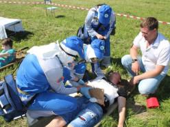 В Слуцком сельскохозяйственном лицее прошли районные соревнования медицинских формирований гражданской обороны