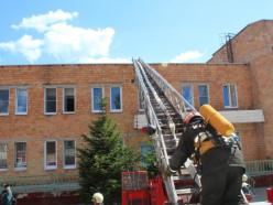 В слуцкой больнице прошли противопожарные учения