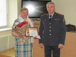 Заведующая магазина в Шишчицах награждена за помощь в задержании вора