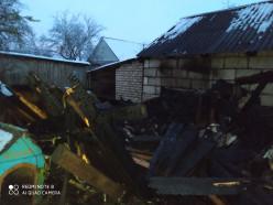 На пожаре в Слуцке сгорел сарай