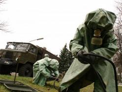 В Стародорожском районе проходят учения военных химиков