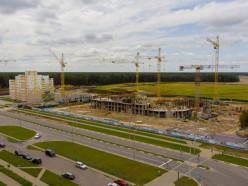 В новом микрорайоне Солигорска построена первая многоэтажка