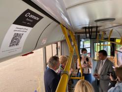 В Слуцке теперь можно рассчитаться за проезд в автобусе по QR-коду. Видео