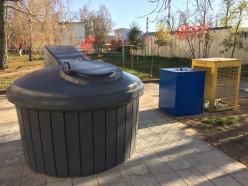 В Слуцке появился заглубленный контейнер для сбора мусора