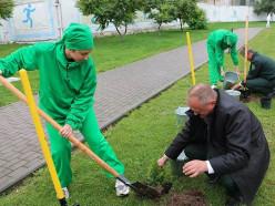 17 сентября в Слуцке заложили «Аллею единства»