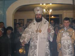 Епископ Антоний совершил всенощное бдение в Михайловской кафедральном соборе