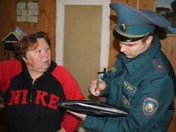 Слуцкие спасатели проверили частные дома в деревне Безверховичи