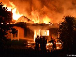 На пожаре в деревне Безверховичи погиб хозяин дома. Видео