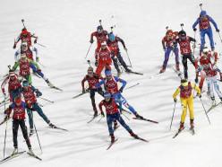 Женская сборная Беларуси по биатлону выиграла олимпийскую эстафету