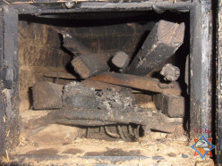Пожар в Болотчицах, парень получил ожоги ног