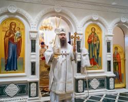Епископ Антоний в день поминания предков провёл богослужение при солигорском соборе