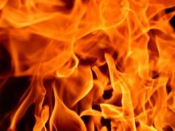 Неподалёку от «Кранового завода» горел частный дом