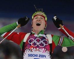 Домрачева взяла третье золото