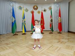 Маленькая случчанка отмечена за участие в конкурсе патриотических рисунков
