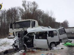 Первый снег. В Калинковичском районе микроавтобус столкнулся с грузовиком - погибли пять женщин (обновлено)