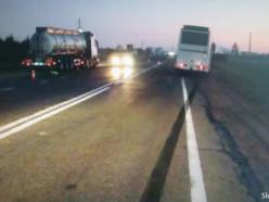 Утром под Слуцком автобус сбил не обозначенного велосипедиста (обновлено)