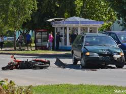 На улице Социалистическая сбили мотоциклиста
