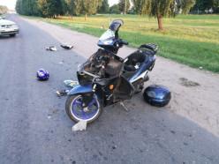 Лобовое столкновение в Клецком районе: пострадала водитель мопеда