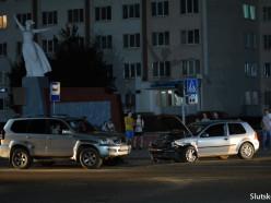 Ночное ДТП на Молодёжном центре: водитель «Гольфа» была пьяна