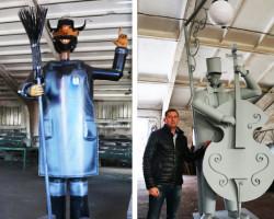В Слуцке появятся металлические скульптуры дворника и музыканта