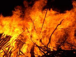 В новогоднюю ночь спасатели выезжали на тушение пожара в Слуцком районе