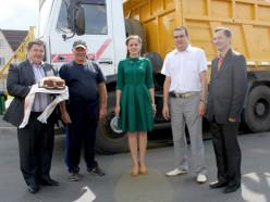 Первая машина с зерном нового урожая приехала на «Слуцкий КХП»