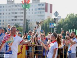 Эстафета огня «Пламя мира» прошла через Солигорск