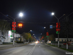 На улице Ленина зажглись светодиоидные фонари, но в ночное время освещения в городе пока не будет