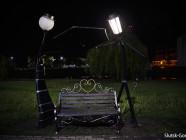 Фотофакт: на набережной Случи зажглась аллея фонарей