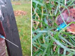 В Солигорске на скамейках нашли иглы от шприцев в крови
