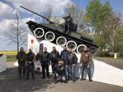Мотоклуб Iron Pride MC возложил цветы к памятникам Победы в Слуцком и Солигорском районах