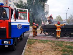 В Слуцке на улице 14-ти Партизан горела БМД