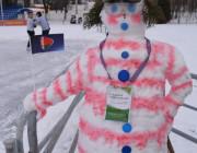 На стадионе открылся каток со снеговиками для селфи