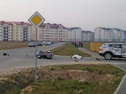 Не пропустили на перекрёстке: в Клецке погиб мотоциклист