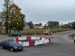 Фотофакт: вблизи заправки на улице М. Богдановича строится «кольцо»