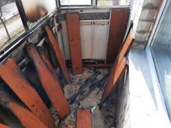 В Слуцке на улице Комсомольской что-то загорелось на балконе