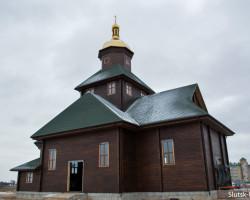 Установлен купол строящегося храма на улице Магистральной