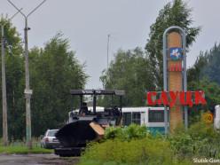 Начинается укладка асфальта по улице Ленина от ДСУ-9 и на перекрестке в 12-м городке