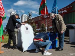 На первый пикет за Лукашенко в Минске выстроились очереди - TUT