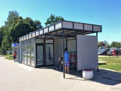 Павильон на остановке «Молодёжный центр» откроется через месяц