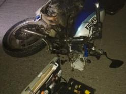 Пьяный мотоциклист-бесправник совершил ДТП с двумя пострадавшими на «минской трассе»