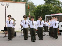 Возле ГДК прошёл отборочный этап смотра военных оркестров