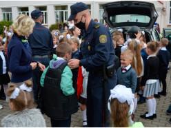 1 сентября Департамент охраны посетил среднюю школу №5 в Слуцке