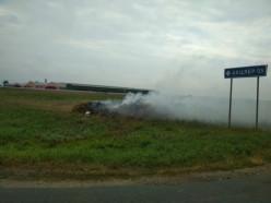 Вблизи деревни Октябрь неизвестные сожгли соломенную композицию