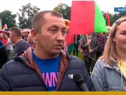 ОНТ о митинге за Лукашенко: в Слуцке шумели целым стадионом