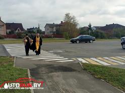 В Солигорске на переходе, который освятил батюшка, через два дня сбили пешехода