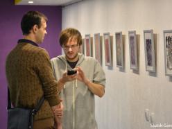 В библиотеке открылась выставка современного искусства случчанина Ильи Падалки