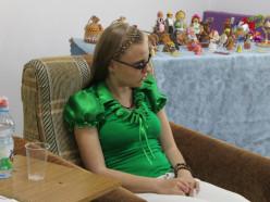 В городской библиотеке прошёл творческий вечер юной Ульяны Палазник, незрячей от рождения